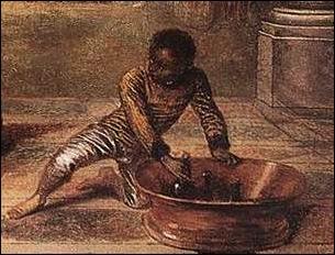 Détail, Les charmes de la vie de Watteau