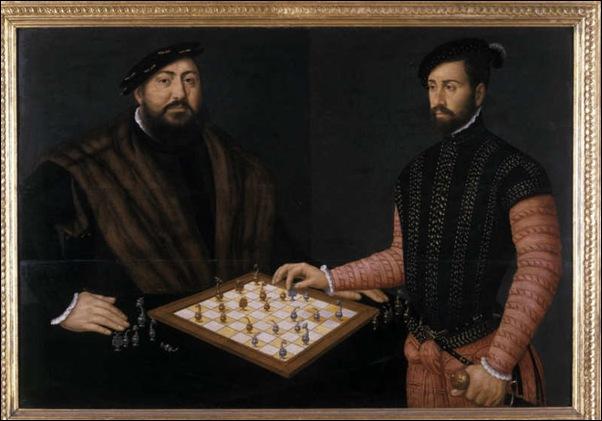 Jan Cornelisz Vermeyen, Von Sachsen jouant aux échecs avec un noble espagnol 1549
