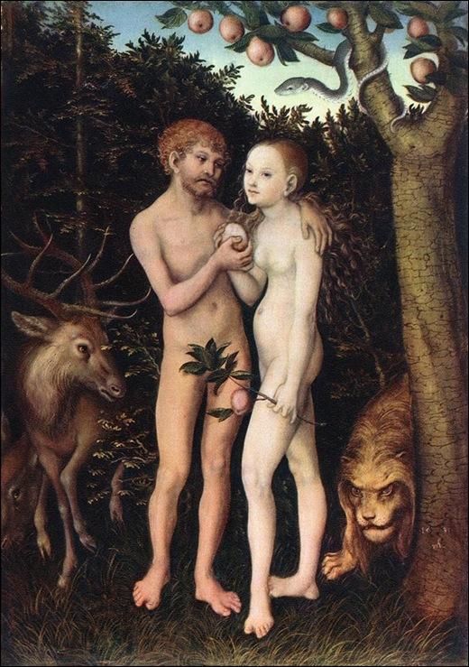 Cranach, Adam et Eve