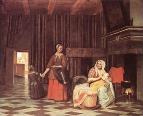 Hooch, Femme allaitant