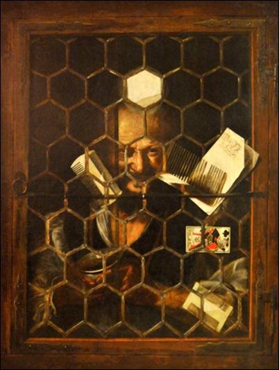Samuel Van Hoogstraten, Jongleur à la fenêtre