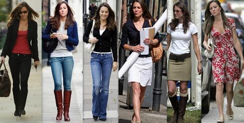 Estilo Kate Middleton de se vestir