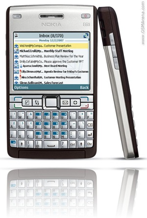 Nokia E61i Silver Brown