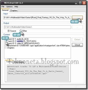 Langkah-langkah extract file mkv