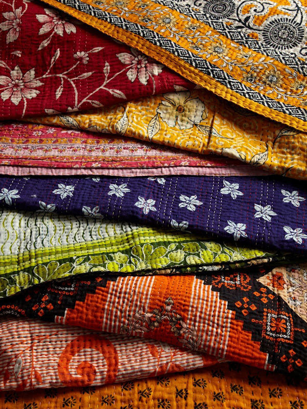 Single%20Kantha%20Vibrant Gilt HOME adds Kantha Quilts to their Home Collection