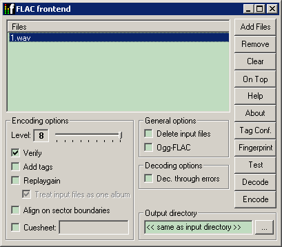 FLAC_Frontend