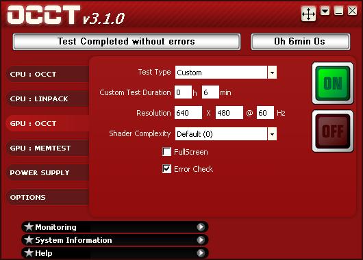 GPU_OCCT_NO_ERRORS