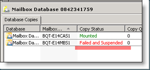 Issue Exchange 2010 Dag Configure Mailbox Database Copy
