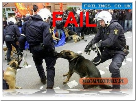 Police Dog Fail.