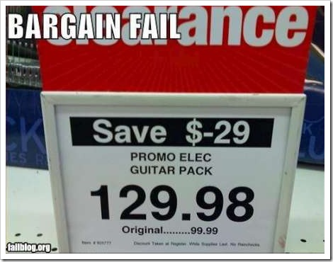 Guitar funny price fail.