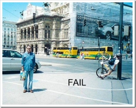 Funny Bicycle fail.