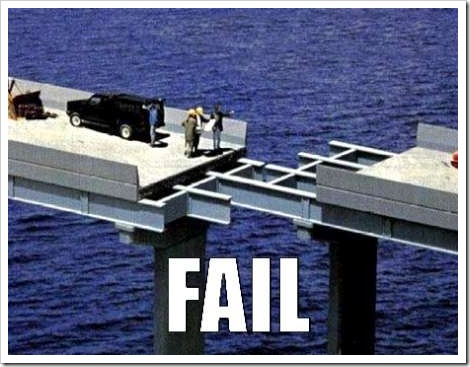 Funny bridge fail picture.