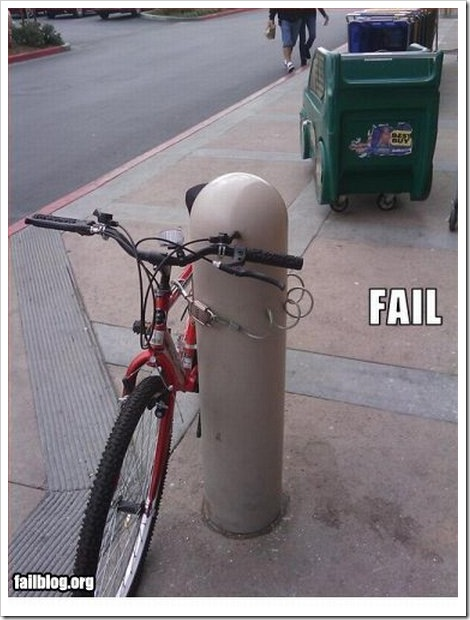 Bicycle Security Fail.