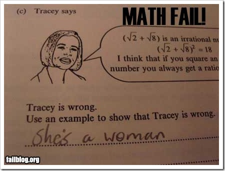 Fail Math Woman.