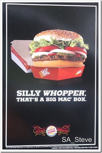 Burger king mcdonalds ad.