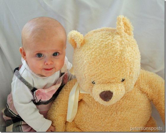 Sadie 5 months with pooh