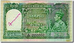 burma note issued by RBI