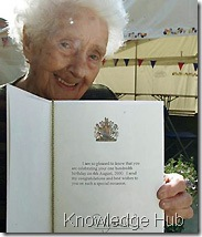 100th birthday greeting from Queen