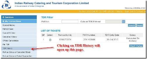 check TDR status
