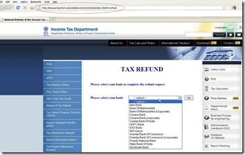 fake Income Tax Department Website