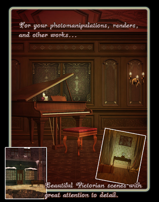 victorian steampunk backgrounds poser daz