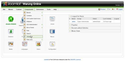 Membangun Toko Online dengan Joomla! 1.5.8 | YAHYA NIAGA