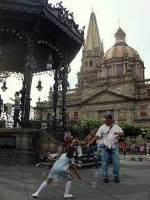 Bubbles in Guadalajara (in park near Zocalo & Cathedral)