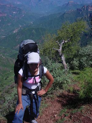 Vasilisa hiking Copper Canyon.