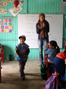 Vasilisa Teaching at USDA School (Alta Trujillo, Peru)