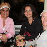 5am on Saturday ... Linda, Kristina and Andrea on the bus to Opening Ceremony