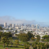 A beautiful view over the city (Mission Dolores Park)