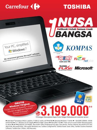 Netbook 1 Nusa Bangsa, Kembali Tersedia, Netbook NB-250, 1 Netbook untuk semua anak bangsa
