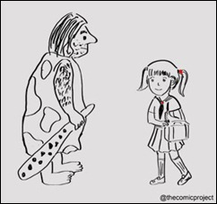 Caveman and Schoolgirl