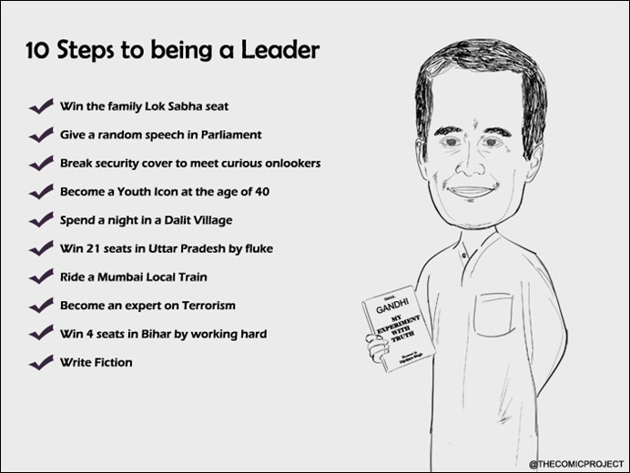 Rahul Gandhi - 10 steps to being a leader