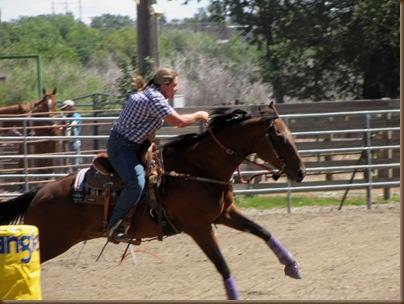 Shannen barrel racing