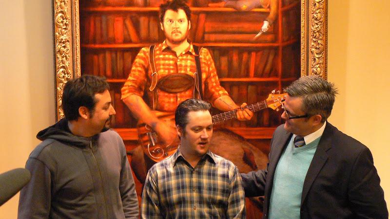 l-r: Alexander Rokoff, Isaac Brock, Sam Adams
