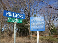 Redmond Rd and Holleford Rd with new sign
