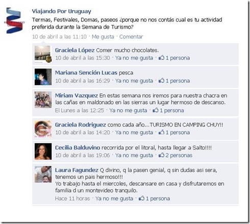 FaceBook tursimo