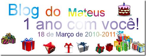 Blog do Mateus 1 ano