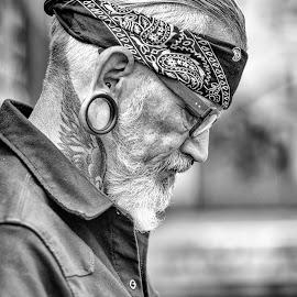 Heinz Chrom by Jonny Otten - People Portraits of Men ( #portrait, #man, #natural lights, #black and white )