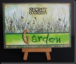 G for Garden postcard
