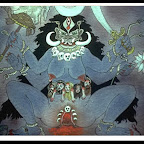 Stan's LSD Painting - Encounter with Mahakali at the moment of birth (BPM III-IV)