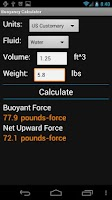 Screenshot of Buoyancy Calculator
