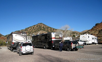 Traffic jam at Queen Mine RV Park