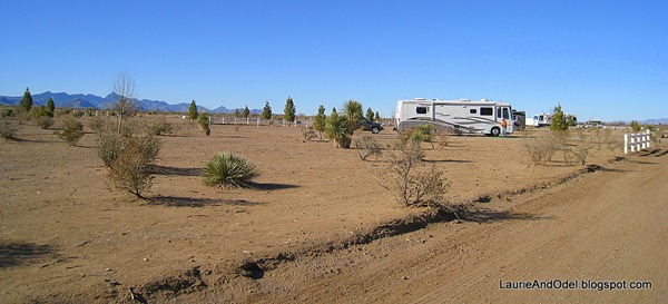 Our site at Rusty's RV Ranch in Rodeo, NM