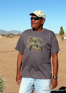 Odel and the Javelina t-Shirt he bought at the museum gift shop.