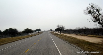 Del Rio to Hondo on an overcast day.