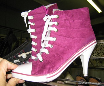 High heeled sneakers!