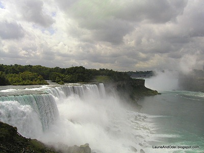 The American falls near Niagara Falls