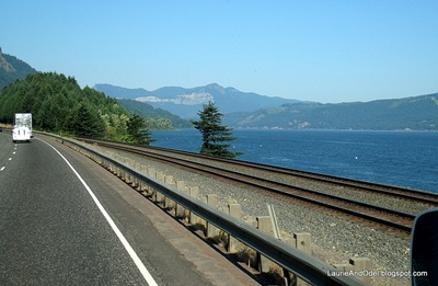 Heading west through the Columbia River Gorge